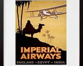 Airline Art Travel Poster Egypt Tourism Print (TR30)