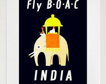 India Travel Poster Vintage Wall Art Print (ZT243)