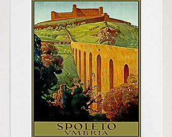 Italy Travel Print Poster Umbria Wall Art (XR143)
