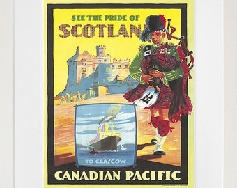 Scotland Travel Art Poster Print Scottish Home Decor (XR182)