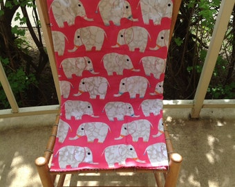 Cozy Pink Elephants Blanket - Ready to Ship Now