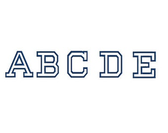College Embroidery Font Script - Instant Download - (Upper Case) Machine Embroidery Design - 260 Files