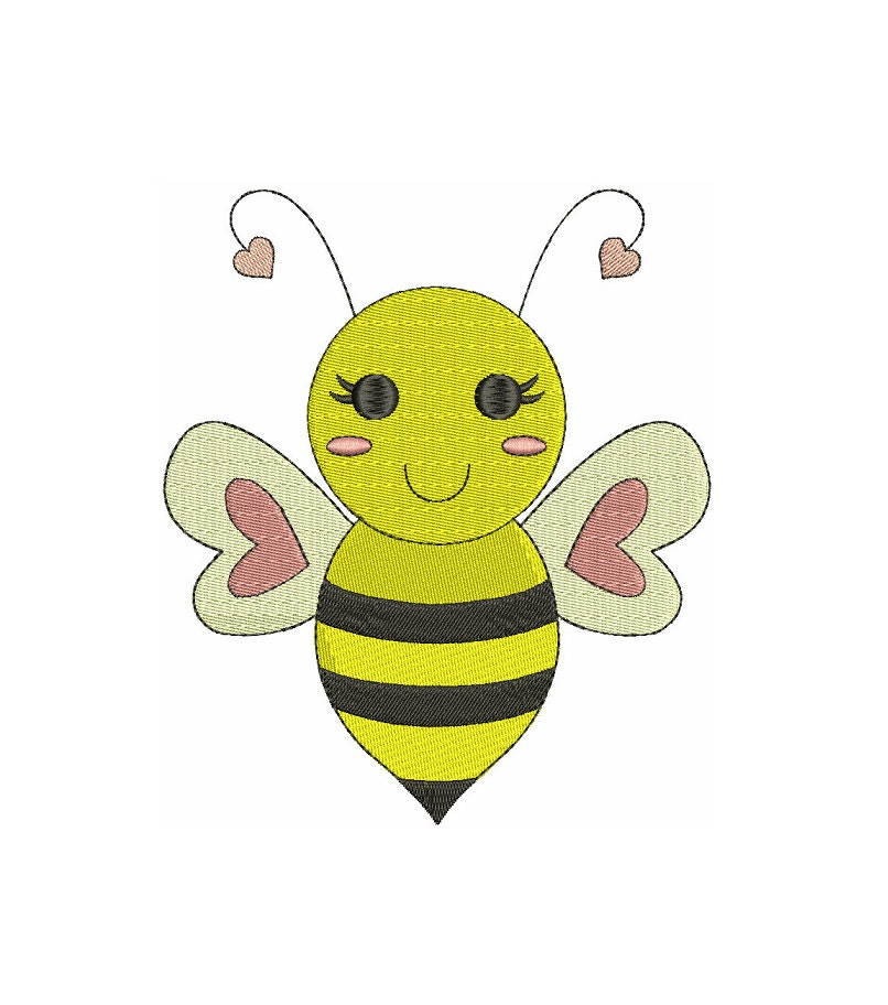 Bumble bee machine embroidery design filled instant download