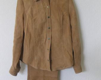 suede nubuck pants and jacket
