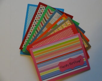 Pattern Happy Birthday Card Set (8pk)