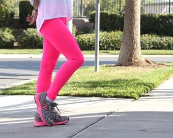 Hot pink leggings   Etsy