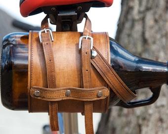 Leather Growler-bike attachment
