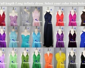 Maxi Full Length Bridesmaid Infinity Convertible Wrap Dress Multiway Long Dresses Party Evening Any Occasion Dresses