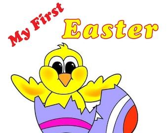 My First EASTER!! Great Onesie / Romper or Tee Shirt Great Baby Shower Gift  CUSTOM PRINTED