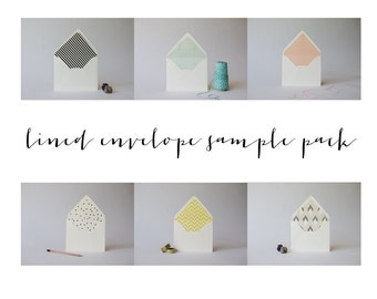 lined envelope sample pack - free shipping!