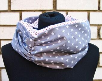 """Loop-Scraf """"Starry Sky"""", scarf, shawl with stars"""