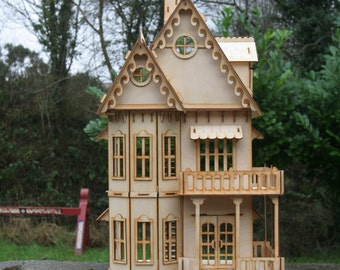Gothic House 3mm Birch Ply Wood Wooden Dolls House