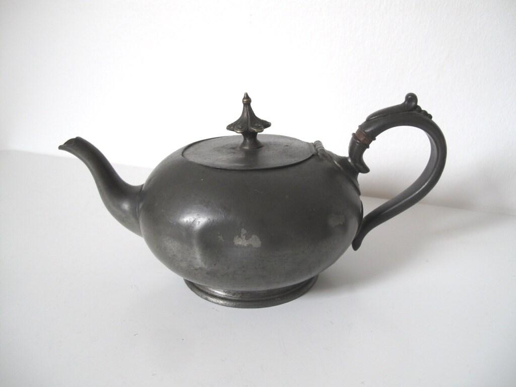 Home Decor Sheffield English Pewter Teapot Vintage Sheffield James Dixon And
