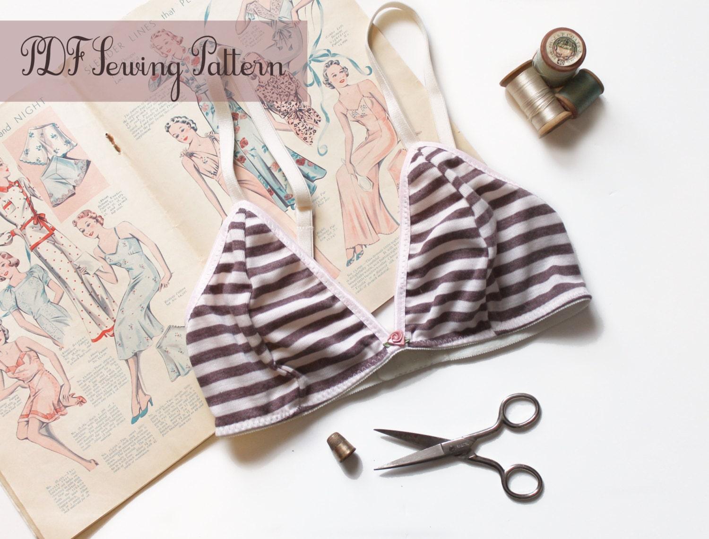 Sewing Pattern Triangles Bra Sewing Pattern Ohhh Lulu