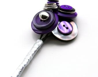 Button Buttonhole Corsage / Wedding accessories / Bridal Party flower alternative