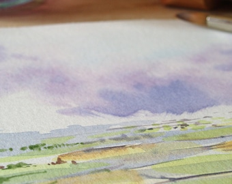 5x7 inch Watercolour Landscape Painting Print