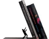 Falling Bookend - Decorative Metal Book Shelf Stand Bookshelf Novelty Fred & Friends Gify By ArtOri Design