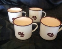 Vintage French Beautiful prize of four coups, mugs, in email.