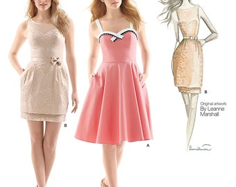 Simplicity Sewing Pattern 1353 Misses' Dresses with Skirts and Variations