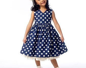 Butterick Sewing Pattern B6046 Children's/Girls' Ruffled Shrug and Raised-Waist Dresses