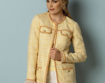 Butterick Sewing Pattern B6062 Misses' Open-Front Jackets