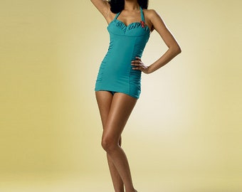 Butterick Sewing Pattern B6067 Misses' Ruched One-Piece Halter Swimsuit
