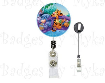 Retractable ID Badge Holder - Eeyore/Tiger