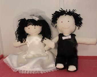 Bride & Groom Rag Dolls