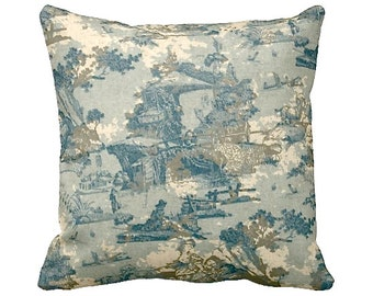 7 Sizes Available: Blue Decorative Throw Pillow Cover Blue Pillow Accent Pillow 12x16 17x17 20x20 22x22 24x24 Inches