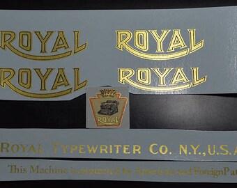 Royal 10 Typewriter Water Slide Decal set _ Late model