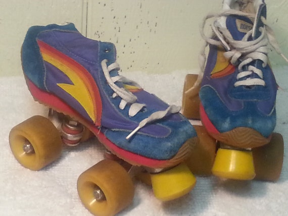 sale size 6 norsport tennis shoe skates lightening bolts and