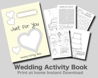 kids wedding activity book yellow cover print at home pdf kids games and puzzles