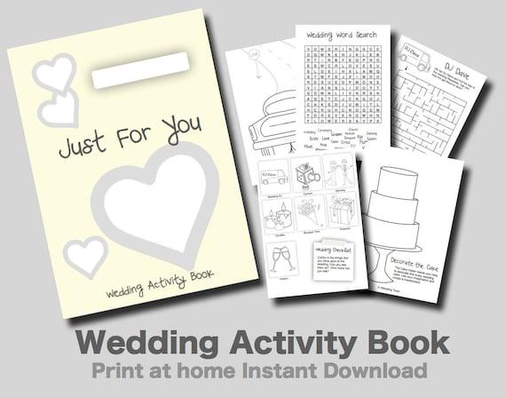 Printable Children S Book Covers ~ Wedding activity book cover pixshark images