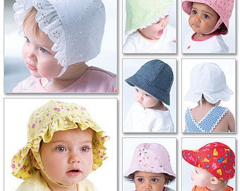 OUT of PRINT McCall's Pattern M4478 Infant's Hats
