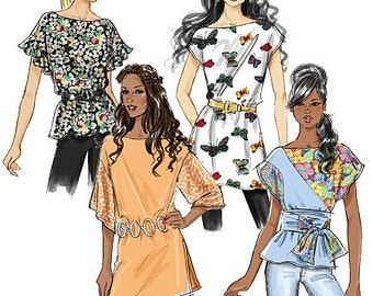 OUT of PRINT Misses' top, Tunic and Sash:  Butterick Pattern B5463