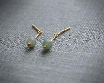 Zen green earrings