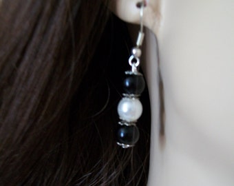 earring black and white