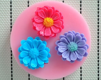 Chrysanthemum flower mold, fondant mold, gumpaste mold, chocolate mold, candy mold, resin mold