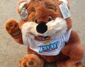 Vintage Zeddy Zellers Mascot Stuffed Animal Teddy Bear