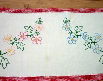 Antique Handmade Embroidery Placemat,  Collectibles Textile, Tray Doily,  Antique Linen, Tray Doily,