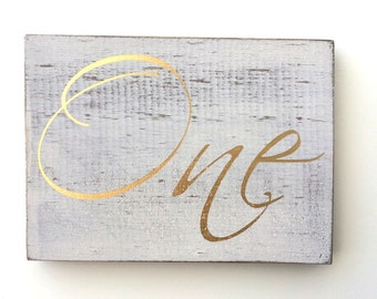 Wedding table numbers, gold table numbers, wedding reserved seating