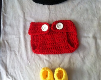 Crochet mickey mouse costume
