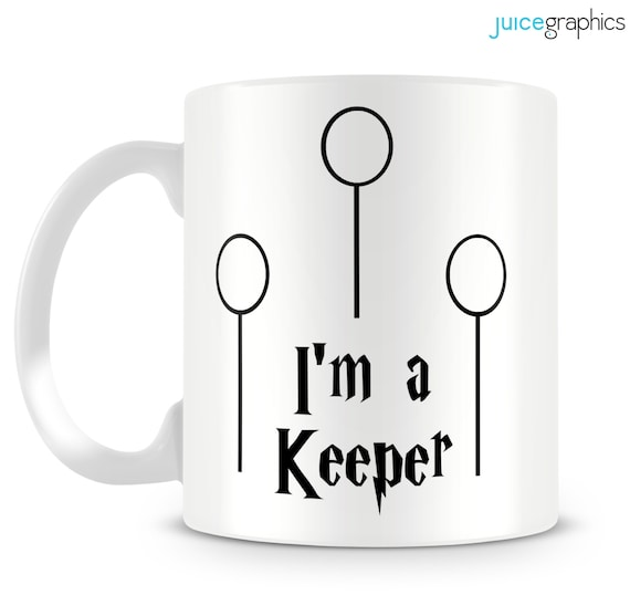 il 570xN.605991841 izg9 Harry Potter inspired mug. I'm a Keeper! Quidditch design by JuiceGraphics