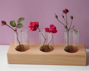 Vase, flower vase, flowers, wooden flower vase, wood vase