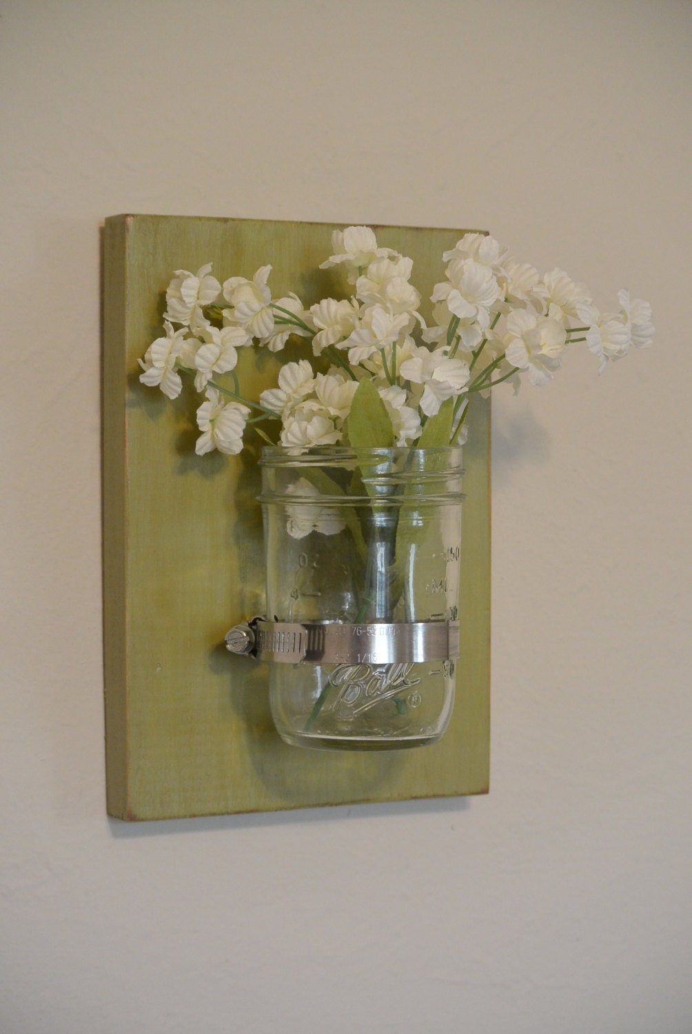 Mason Jar Wall Decor How To : Request a custom order and have something made just for you