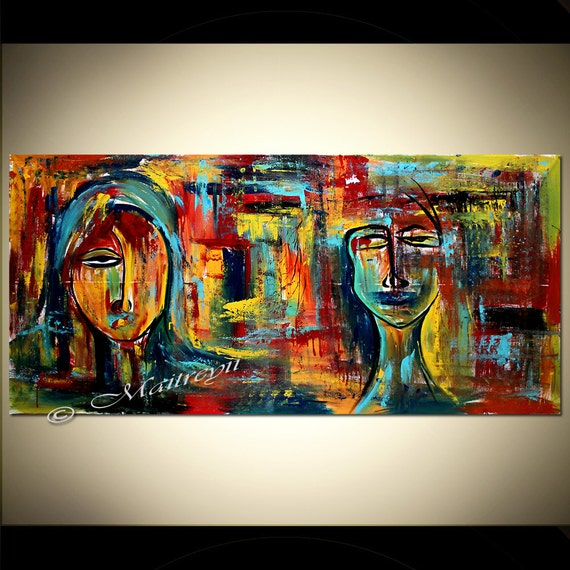 Abstract Figurative Art Modern Painting 72 Original