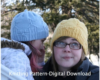 Castle Hat Knitting Pattern (digital download)