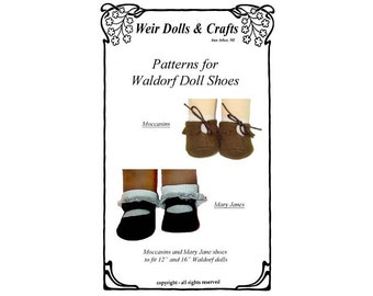 Waldorf  Doll  Shoes Pattern