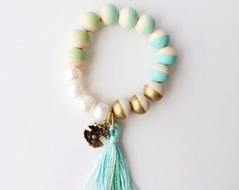 Modern color block bracelet worlds oyster