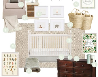 Custom Interior Design Services for Nursery | Complete Design Package, E-Design, Mood Board, Nursery Decor
